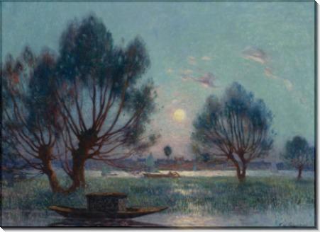 Ясно Луна над берегами реки Луары -  Пюигадо, Фердинанд дю