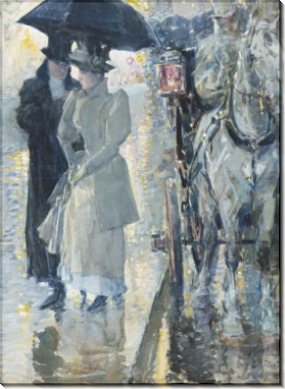 Дождливый день в Нью-Йорке, 1892 - Хассам, Фредерик Чайлд