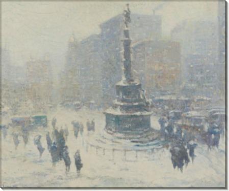 Площадь Колумба, Нью-Йорк,  1921 -  Уиггинс, Гай Кэрлтон
