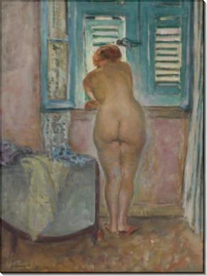 Обнаженная женщина у окна - Лебаск, Анри