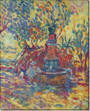 Сен-Тропе, девушки у фонтана, 1906 - Лебаск, Анри