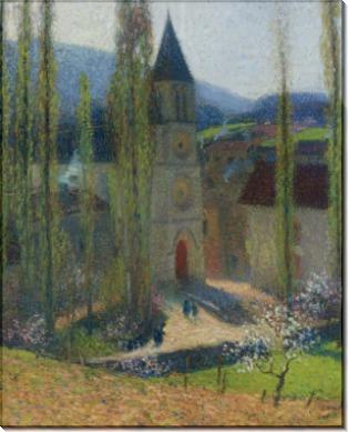 Церковь в Лабасти-дю-Вер, вечер - Мартен, Анри Жан Гийом