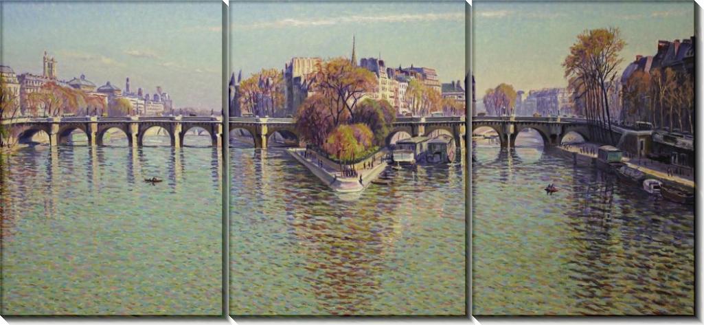 Новый мост, Париж (Хорошая погода), 1940 - Кариот, Густав