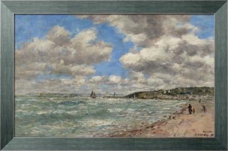 Берег в Довиле, 1896 - Буден, Эжен