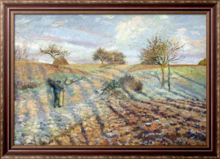 Иней, 1873 - Писсарро, Камиль