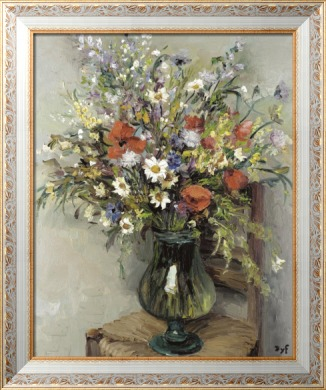 Цветы в стеклянной вазе, 1960 - Диф, Марсель