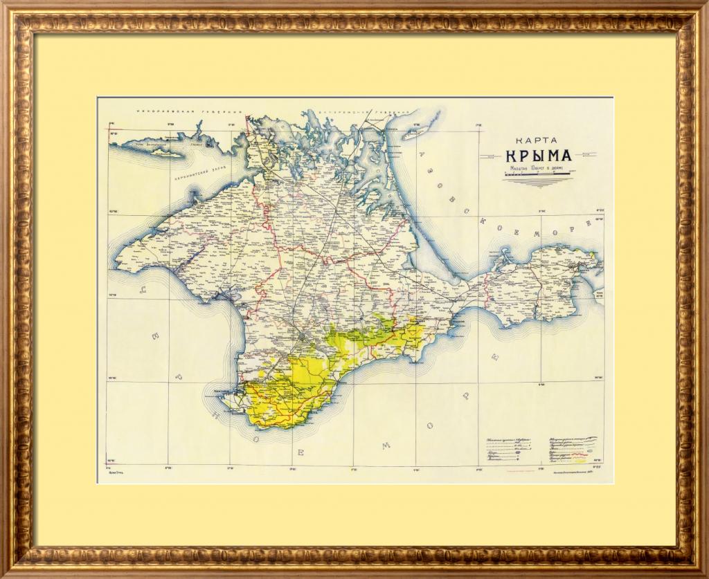 Карта Крыма 1922