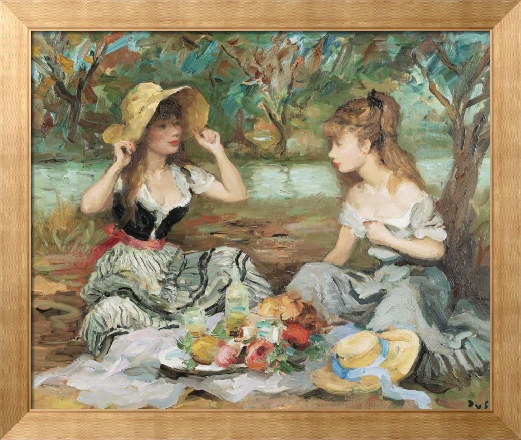 Пейзаж с двумя девушками - Диф, Марсель