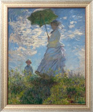 Женщина с зонтиком 1875 моне клод