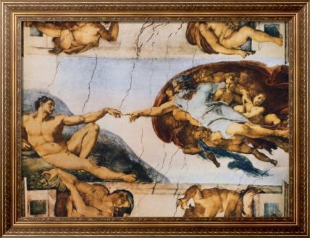 Сотворение Адама - Микела́нджело Буонарро́ти