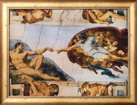 Сотворение Адама - Караваджо, Микеланджело Меризи да