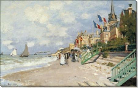 Пляж в Трювиле, 1870 - Моне, Клод