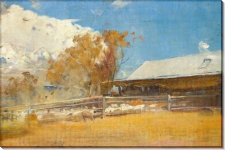 Стрижка овец, Ньюстед (Shearing Shed, Newstead), 1894 - Робертс, Том
