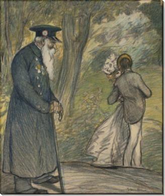 Любовь в зеленом (The Love in Green), 1900 - Стейнлен, Теофиль-Александр