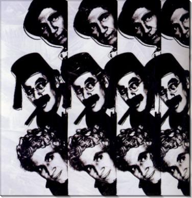 Десять знаменитых евреев ХХ века, братья Маркс (Dix portraits de juifs du XXè siècle, Les Marx Brothers), 1980 - Уорхол, Энди
