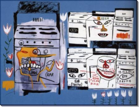 Жан-Мишель Баския (et J.M. Basquiat  Cuisinières), 1985 - Уорхол, Энди