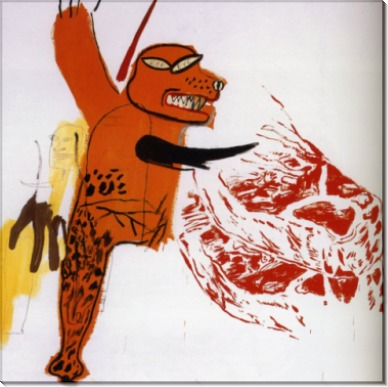 Жан-Мишель Баския  (et J.M. Basquiat  Le Monstre Carnivore), 1985 - Уорхол, Энди