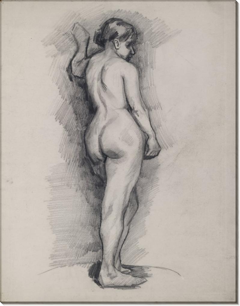 Стоящая обнаженная, вид сзади (Standing Female Nude Seen from the Back), 1886 02 - Гог, Винсент ван