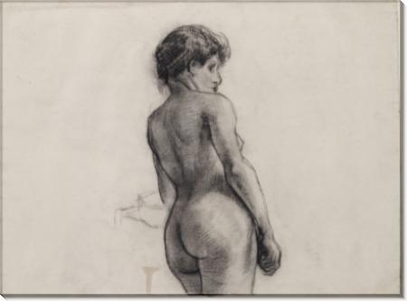 Стоящая обнаженная, вид сзади (Standing Female Nude Seen from the Back), 1886 01 - Гог, Винсент ван