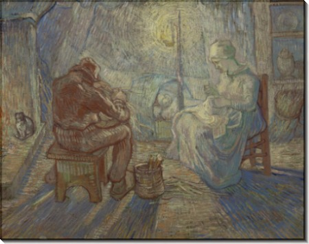 Вечер (по мотивам Милле) (Evening), 1889 - Гог, Винсент ван