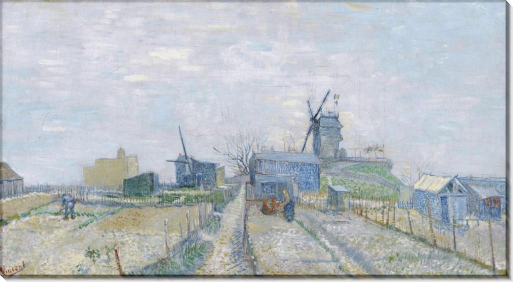 Огороды на Монмартре (Montmartre - Mills and Vegetable Gardens), 1887 - Гог, Винсент ван