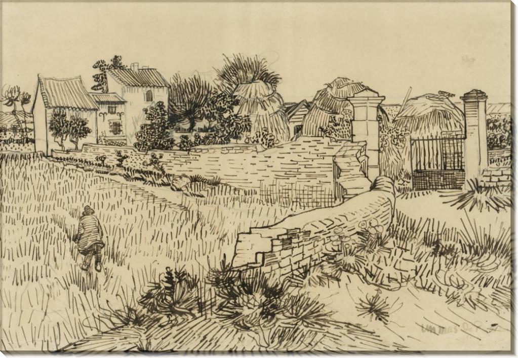 Ферма в Провансе (эскиз) (Farmhouse in Provence (sketch), 1888 - Гог, Винсент ван