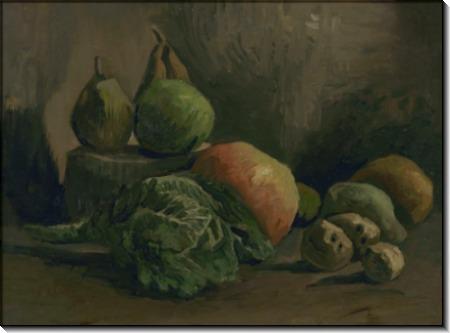 Натюрморт с овощами и фруктами (Still Life with Vegetables and Fruit), 1884 - Гог, Винсент ван