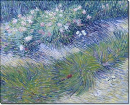 Трава и бабочки (Grass and Butterflies), 1887 - Гог, Винсент ван