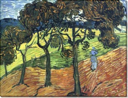 Пейзаж с деревьями и фигурами (Landscape with Trees and Figures), 1889 - Гог, Винсент ван