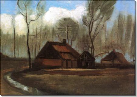 Ферма меж деревьев (Farmhouses among Trees), 1883 - Гог, Винсент ван
