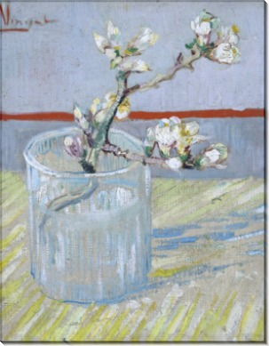 Цветущая ветвь миндаля в стакане (Blossoming Almond Branch in a Glass), 1888 - Гог, Винсент ван