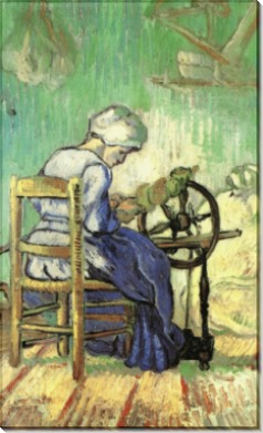 Прядильщица (The Spinner (after Millet), 1889 - Гог, Винсент ван