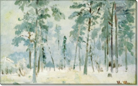 Лес в инее, 1890-е - Шишкин, Иван Иванович