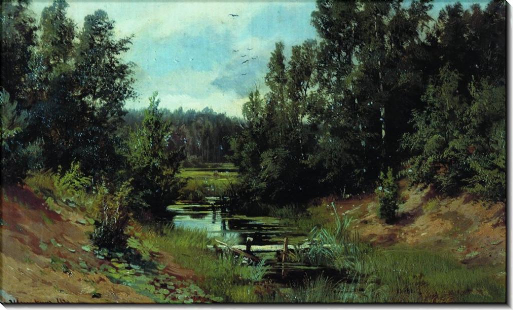 Лесной ручей, 1870 - Шишкин, Иван Иванович