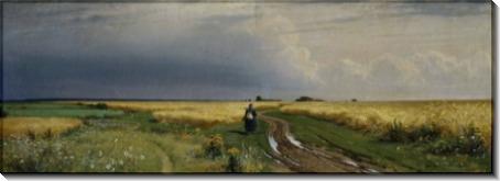 Дорога во ржи, 1866 этюд - Шишкин, Иван Иванович