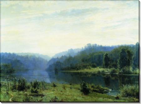 Туманное утро, 1885 - Шишкин, Иван Иванович