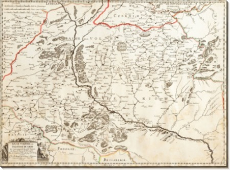Карта Украины 1665
