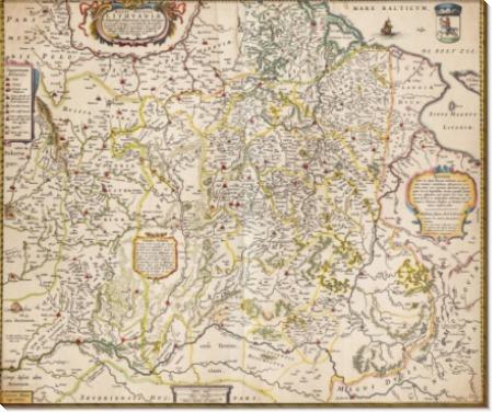 Карта Литвы 1662