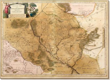 Карта Украины 1670