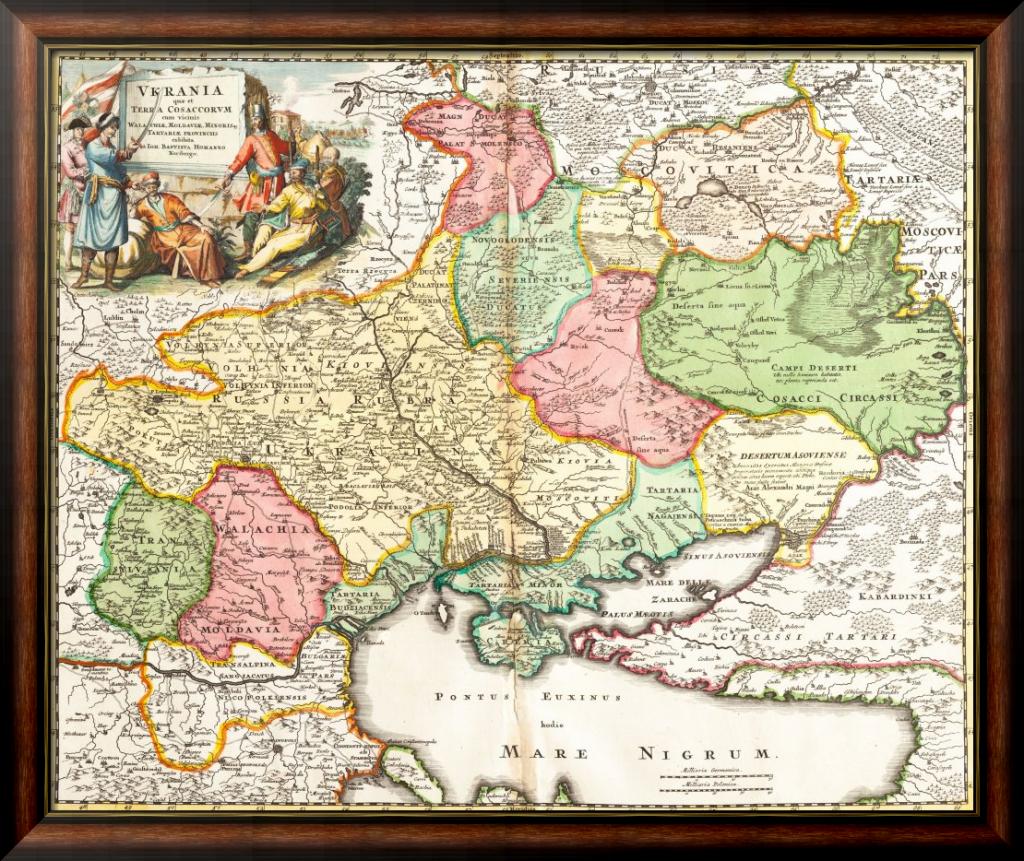 Карта Украины 1720
