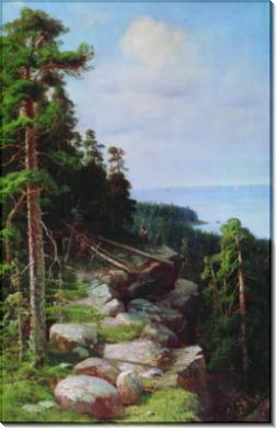 Над набережной, 1887 - Шишкин, Иван Иванович
