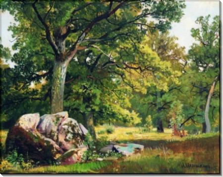 Солнечный день в лесу. Дубы, 1891 - Шишкин, Иван Иванович