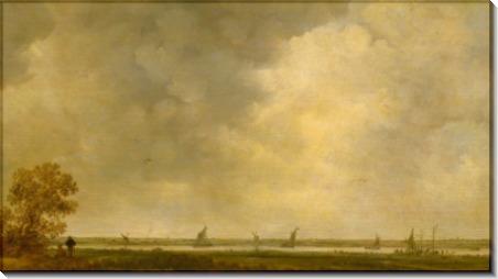 Вид на пойму реки - Гойен, Ян ван