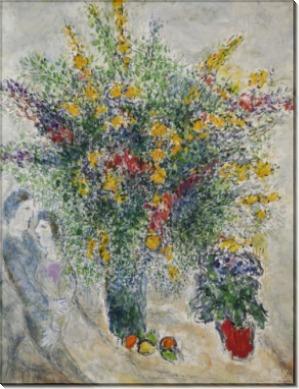 Цветы в свете - Шагал, Марк Захарович