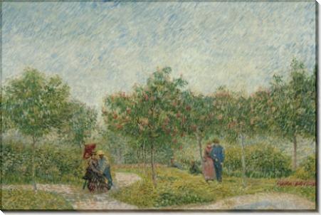 Сад на Монмартре с влюбленными парами - Гог, Винсент ван