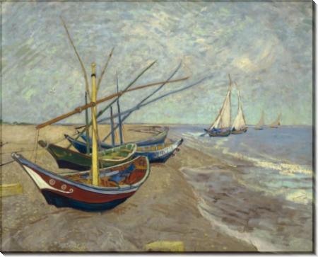 Рыболовные лодки на берегу в Сент-Мари-де-ла-Мер - Гог, Винсент ван