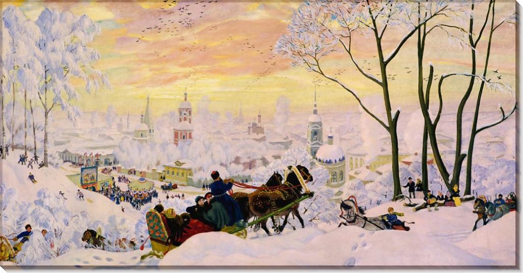 Масленица - Кустодиев, Борис Михайлович