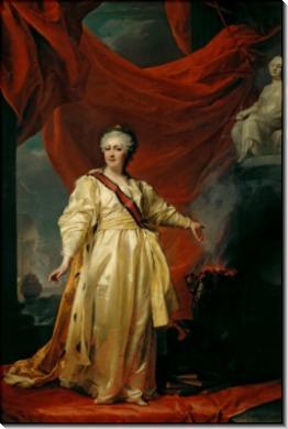 Екатерина II в виде Законодательницы в храме богини Правосудия - Левицкий, Дмитрий Григорьевич