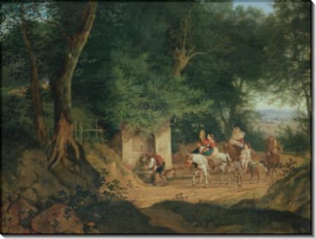 Родник в лесу около Ариччи - Рихтер, Густав Карл Людвиг