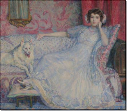 Дама в белом (Портрет мадам Хелен Келлер), 1907 - Рейссельберге, Тео ван